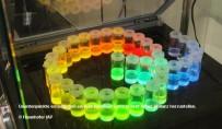 Quantenpunkte ermöglichen es, jede beliebige Farbe in sehr hoher Brillanz herzustellen. © Fraunhofer IAP